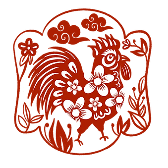 —Pngtree—rooster year window grille chin
