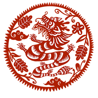 —Pngtree—dragon year round window grille