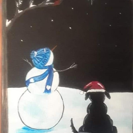 WAGS Holiday Wine & Paint night