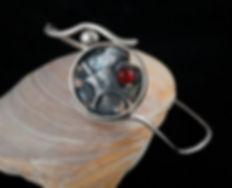 bracelet sterling silver carnelian