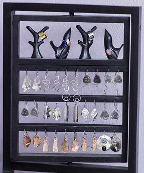 silver jewelry display earrings rings