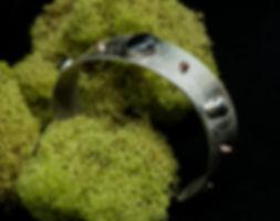 bracelet silver etching copper hematite