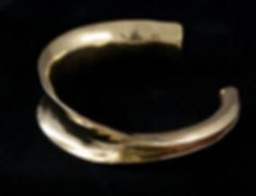 brass cuff asymetric