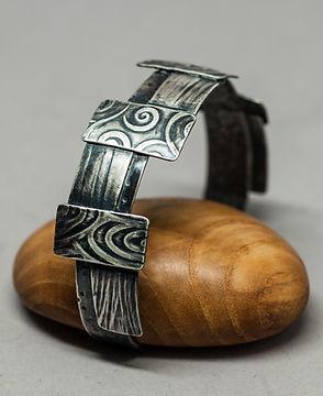 bracelet silver patina texture