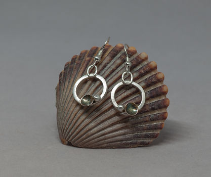 earrings silver patina