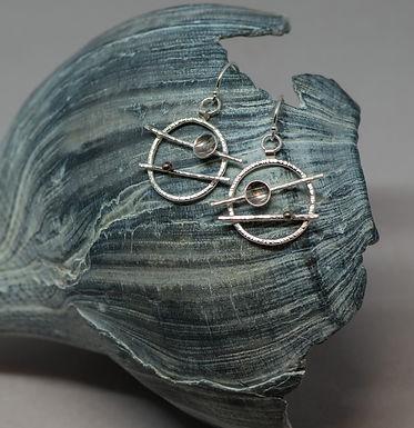 earrings silver patina