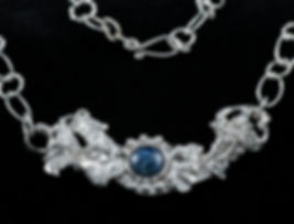 necklace sterling silver fusion sodalite