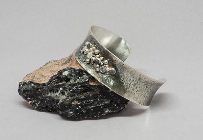bracelet silver texture patina