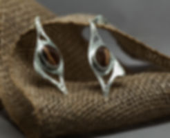 earrings silver jasper