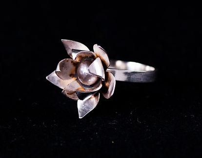 Silver ring patina
