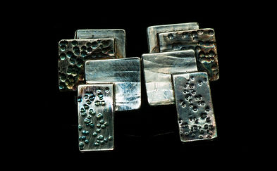 earrings silver patina texture