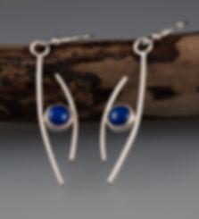 earrings sterling silver lapis