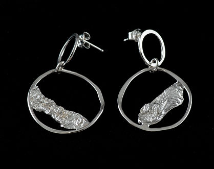 post earrings sterling silver reticulation