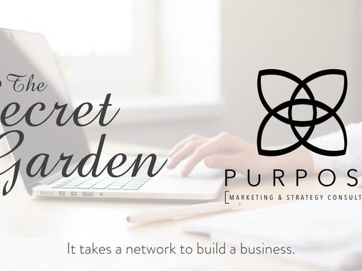 The Secret Garden gets Purpose for our website