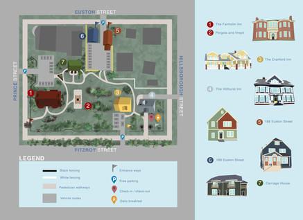 Fairholm Boutique Inns Map