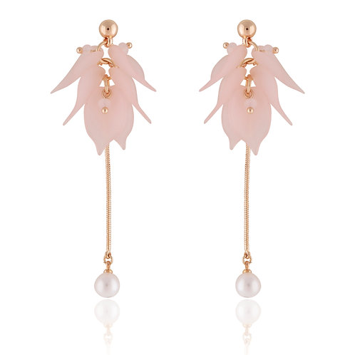 Statement Pink Leaf earrings EL15
