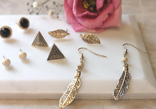 Feather earring set Peace