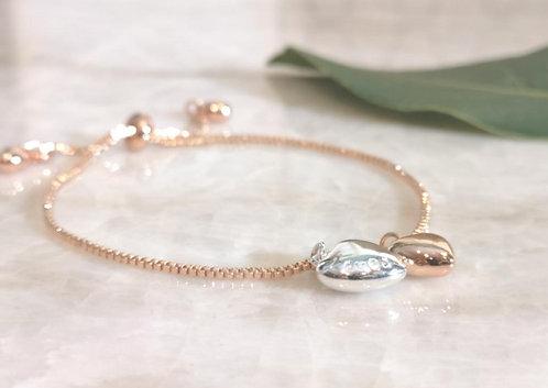 Premium engraved rose gold bracelet BC18