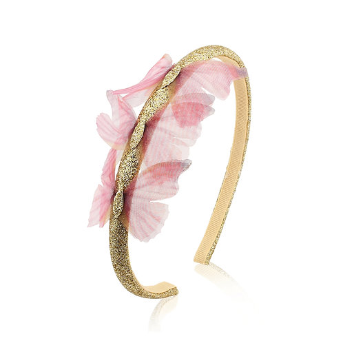 Blush and Gold hair band