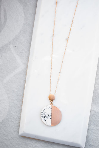 Rose gold Marble Necklace N039