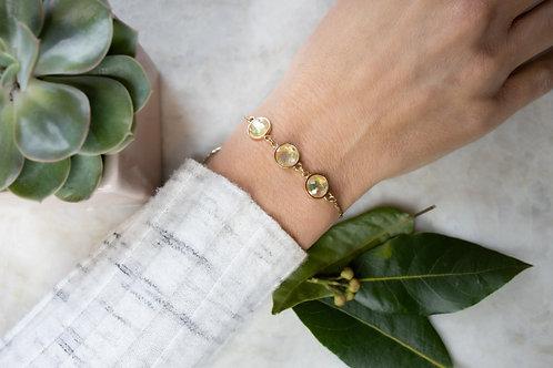 Gold iridescent bead bracelet BC16