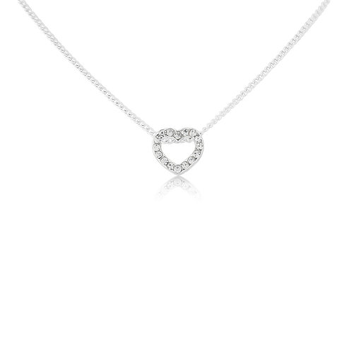 Children's sparkly heart necklace