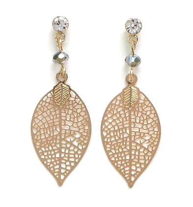 Elegant leaf print earrings EL04