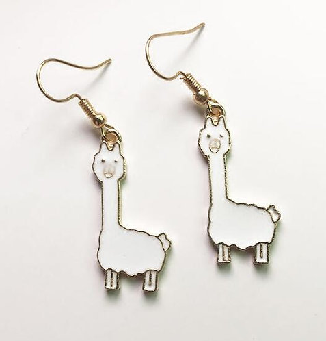 Llama long earrings