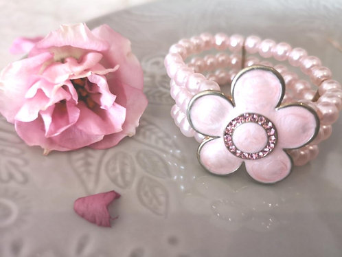 Pearl and marble style bracelet BG03