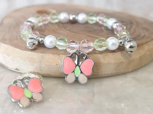Girls butterfly and bracelet set