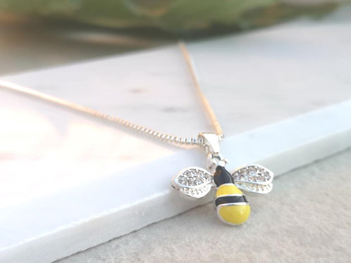 Silver Bee Necklace N053S