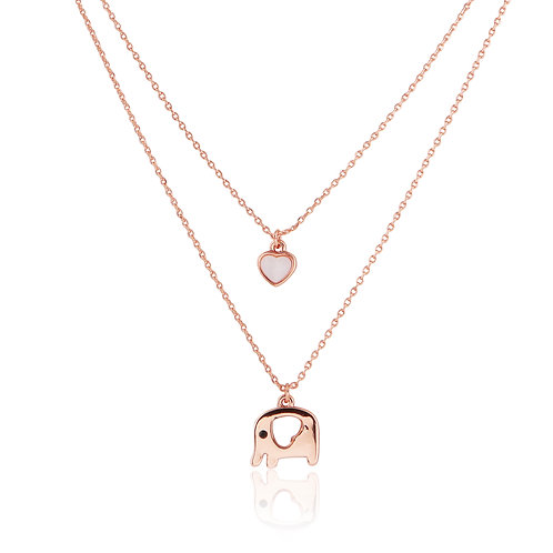 Elephant love pearl necklace N022