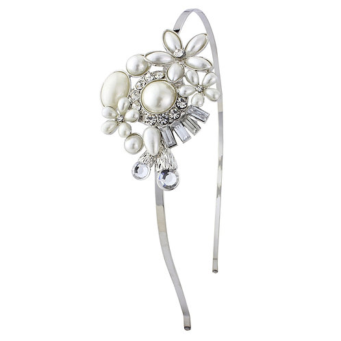 Unique wedding pearl hairband