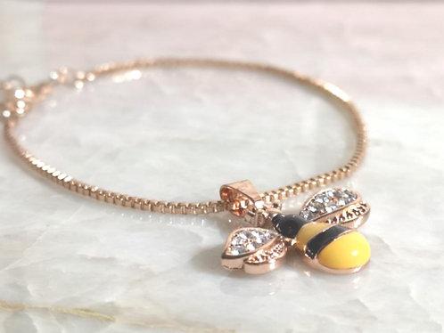 Rose Gold Bee bracelet BC23