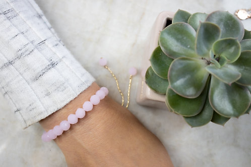 Pink hexagon bracelet BC15