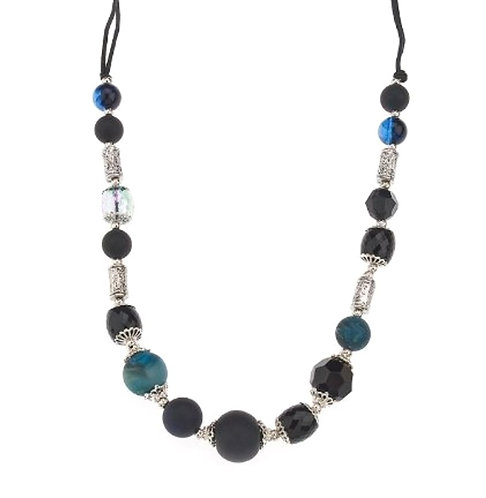 Beaded Teal necklace