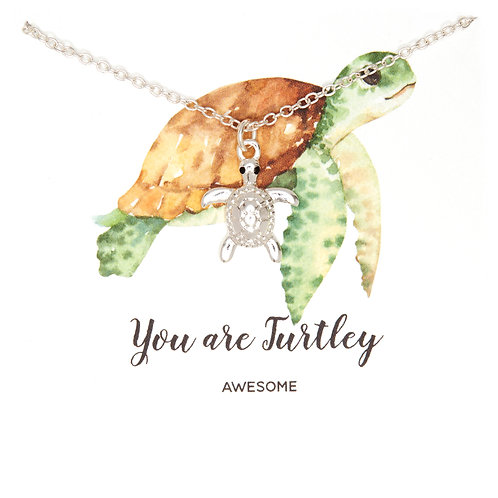 Silver Turtle necklace PNG06