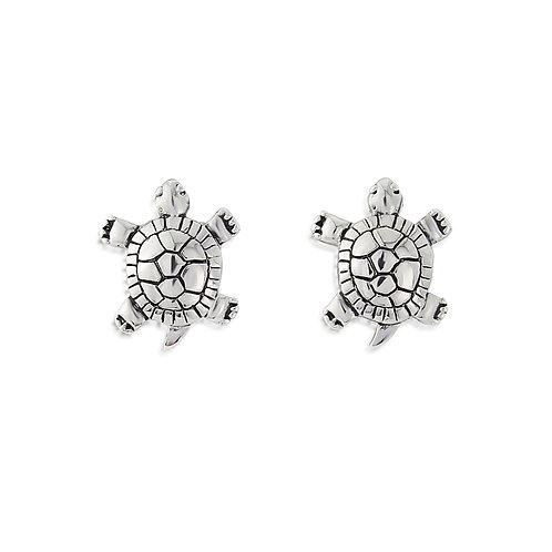Silver Turtle earrings.