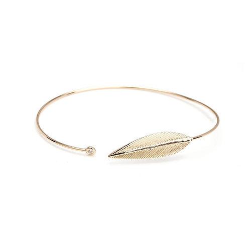 Gold leaf bangle BC05