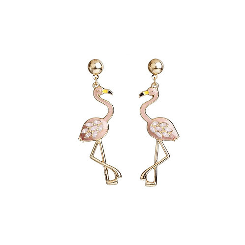 Pink and Gold long earrings.
