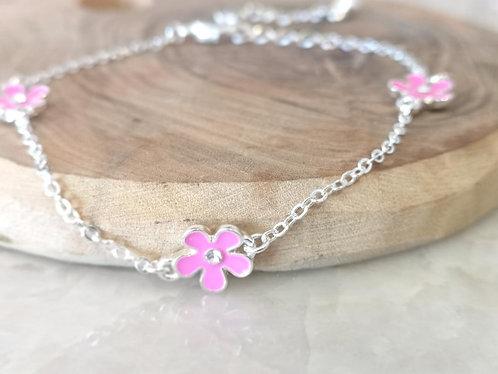 Pink Daisy Bracelet BG03