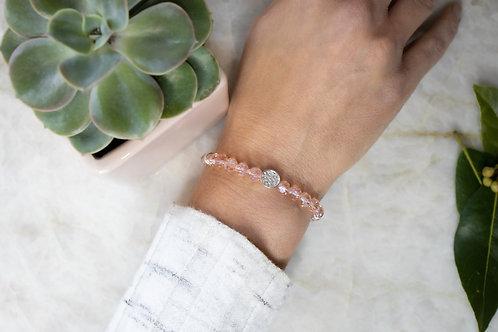 Pink sparkly bracelet BC02