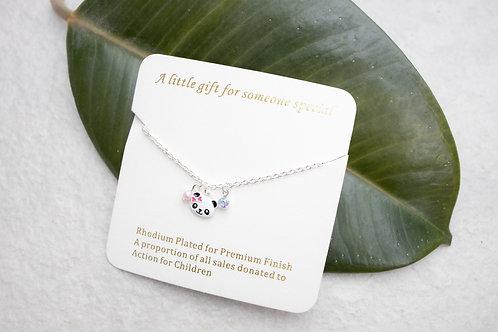 Children's panda necklace