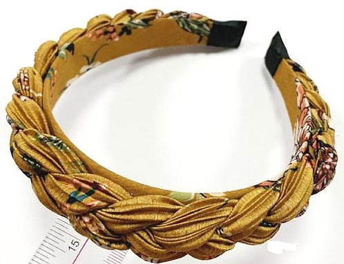 Mustard yellow plait hairband