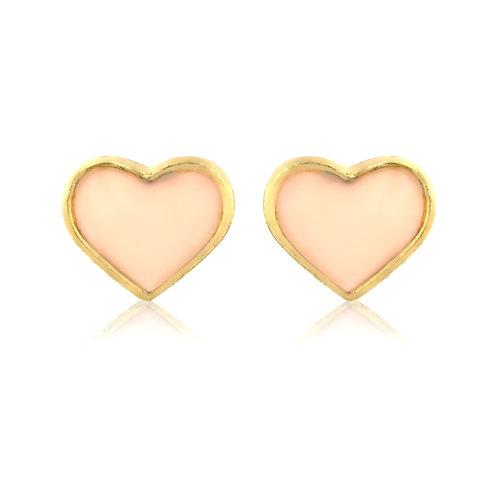 Neutral heart earrings EL43
