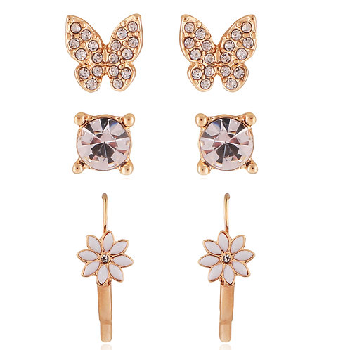 Butterfly and flower earring set EL22