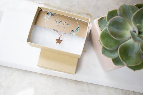 Well done rose gold necklace