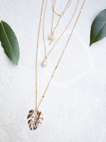 Palm Tree 4 layer necklace N003