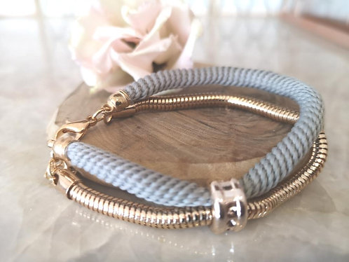 Grey textured bracelet BD34