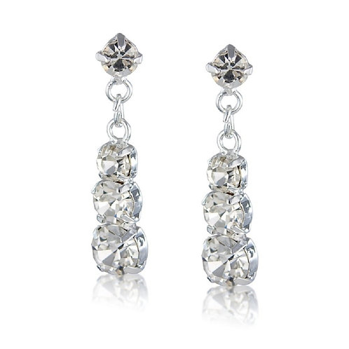 Classic diamante earrings